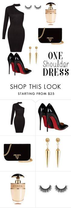 """Dress too impress"" by vildana-dezic ❤ liked on Polyvore featuring Christian Louboutin, Prada and Sydney Evan"