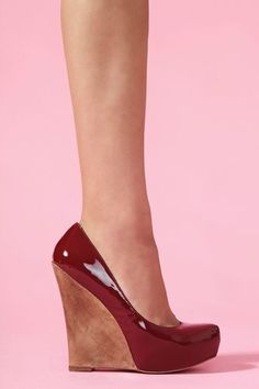 Slick Platform Wedge - Wine