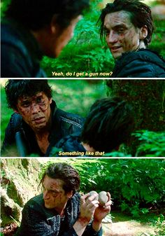 This was hilarious...but poor Murphy always being the bate I HATED most of season one but then he came back and I felt sooooo bad for him