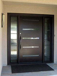 106 Castle Modern Stainless Steel 304 Grade Entry Entrance Store Front Timber Wood Flameless Glass Aluminum Door Pull Push Handles Double-sided (18 inches /450x32mm) - - AmazonSmile
