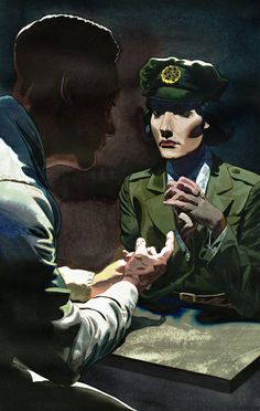 Shadow Knights; Selwyn Jepson trying to dissuade Noor Inayat Khan from becoming a member of the SOE.