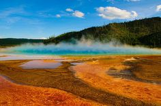 24 Surreal Places Around The World To Visit Before You Die  |  Grand Prismatic Spring in Yellowstone National Park,United States