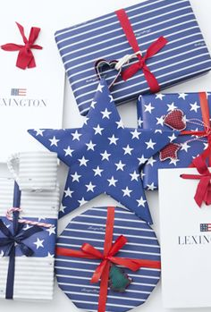 It's gift wrapping time of year! Here's 5 easy ideas to make the gift wrapping a little more creative, fun and cute! Lexington Company, Lexington Home, Fig Tart, 5 Gifts, Gift Wrapping, Wrapping Ideas, All Holidays, Wraps, Blue And White