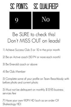Success club qualifications