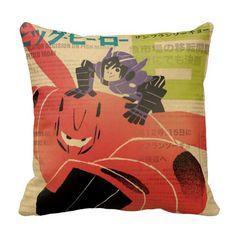 Hiro And Baymax Propaganda Pillows