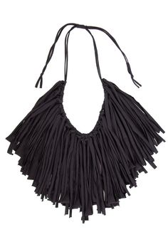 Shake Rattle & Roll Necklace - Black