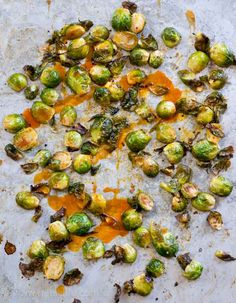 Buffalo Brussels Sprouts. A spicy and healthy recipe to bring a little zing to your dinner table.