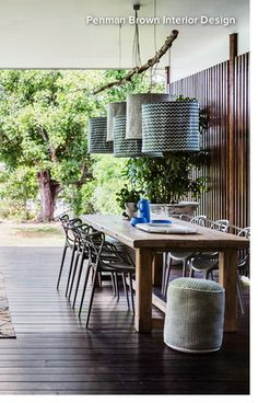 """I saw this in """"All Decked Out"""" in House & Garden Magazine 2015 January. Masters Chair, Kitchen Dining, Dining Room, Outdoor Furniture, Outdoor Decor, Rooftop, Outdoor Living, Deck, Home And Garden"""