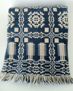 Vintage Double Sided Welsh Style Throw/ Blanket
