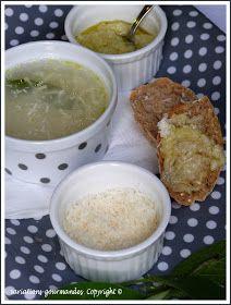 """""""Aiga boulida"""" (soupe à l'ail et à la sauge) ... ou la soupe """"détox"""" du dimanche soir. Coutume, French Food, Prison, Pudding, Desserts, Garlic Soup, Sunday Night, Salvia, Going Out"""