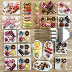 Dans la lignée des créations deFairchildart ou deShay Aaron, voici aujourd'hui lesadorables miniatures culinaires de Stéphanie Kilgast, une artiste fra