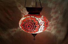 Moroccan mosaic hanging lamp glass chandelier light lampen handmade candle M 038 #Handmade #Moroccan