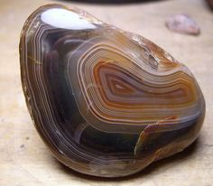 Lake superior agate with copper inclusions