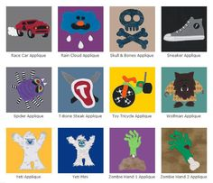 TrashN2Tees Machine Embroidery Designs // The Upcycled T-shirt Boys Style Machine Applique