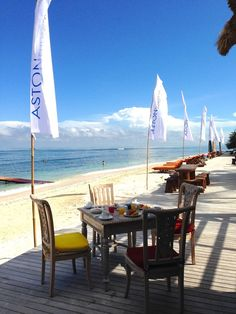 Calm morning: Aston Sunset Beach boasts its own private beach on a calmer coast of Gili Trawangan. (Photo by Indra Febri...