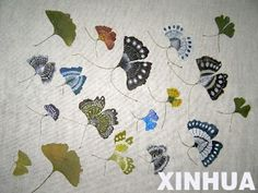 The Ginkgo Pages Forum - Blog: Painting: butterflies and Ginkgo leaves