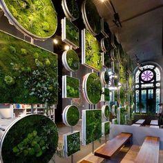 Garden wall art. Love this idea