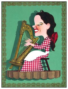 """Jacques Kapralik was a major artist in MGM publicity. Many of his caricatures ended up, not only in promotional posters, but in the 1940's MGM title credits as well. This is Judy Garland in """"Little Nellie Kelly"""""""