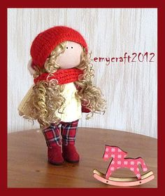 "READY TO SHIP!    Christmas doll. Textile doll. Interior doll. Handmade dolls. Doll for interior decoration.   Height 29 cm. / 11.4 ""   The doll is very charming. Textile doll will be an original gift for you and your loved ones.  Clothing can not be removed.    How to Care: Do not wash. Dry and love :)    If you are interested in a set for self-production of this doll, ask me how?    Dolls send anywhere in the world, if your country is not listed, send me a message and I fix it.    Thank…"