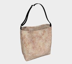 Iced coffee and white swirls doodles Day Tote by @savousepate on Art of Where #icedcoffee #beige #brown #neutralcolors #totebag