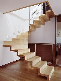 I love this concept and the material but I'd fall in a hot millisecond. Concrete Staircase, Glass Stairs, Attic Staircase, Floating Stairs, Wooden Stairs, Staircase Design, Vertical Garden Design, House Stairs, Stairways