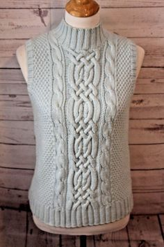 VineYard Vest Hand Knitting Pattern