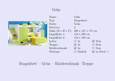 #Etagenbett #Kinderzimmer #Grün #Kleiderschrank #Treppe