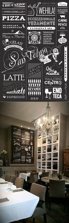 Wall Restaurant Design - San Telmo - Cannes by Spillo Design