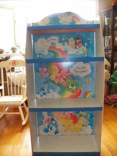 Vintage Care Bears Vintage Care Bears Furniture Display Bookcase Book Case Shelf