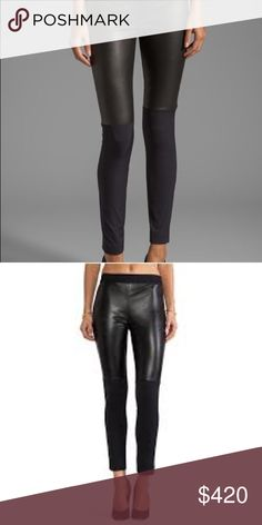Milly Italian Lamb leather Stretch Bi front pants Milly Italian Lamb leather Stretch Bi front pants. Size 6. Absolutely gorgeous. Like brand new condition. Worn once. Retails for $1050. Milly Pants