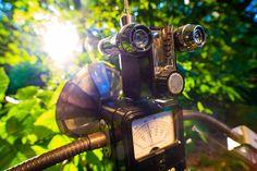 From my upcoming #BabesAndBots #photo calendar for the @trentonprfm #Trenton #Punkrock #Fleamarket. I feel like this one has a real Wall-E-style bit of wonder to it.  Bot by Pete Katsos  #robots #bots #robotic #punk #funky #moody #portrait #mirror #cylonsexy #craft #creative #tinker #diy #machines #singularity  #nature #sunset #adventure $sun #escape #robotrevolution @sonyalpha @rokinon @samyanglensglobal