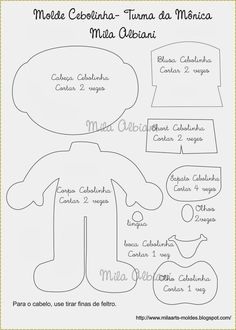 Olá amores. Dias atrás produzi uma encomenda da Turma da Mônica para uma cliente super fofa. Como precisei desenhar os moldes, já aprovei...