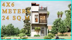 2 Storey House Design, Small House Design, Narrow House, 2 Story Houses, Roof Deck, Rooftop, Condo, House Plans, Multi Story Building