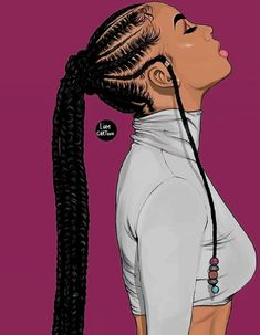 These braided hairstyles for black women are amazing Black Love Art, Black Girl Art, Black Is Beautiful, Black Girl Cartoon, Dope Cartoon Art, Cartoon Hair, Cartoon Cartoon, Black Art Painting, Black Artwork