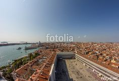 St. Mark's Square Panorama View Venice Italy