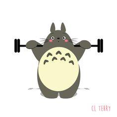 Mon Voisin Totoro, masterpiece from Hayao Miyazaki, marveled lot of children. Australian graphic designer CL Terry make in Totoro one of her favorite subject. Gif Totoro, Totoro Ghibli, Hayao Miyazaki, Anime W, Girls Anime, Anime Toys, Gifs, Gif Animé, Animated Gif