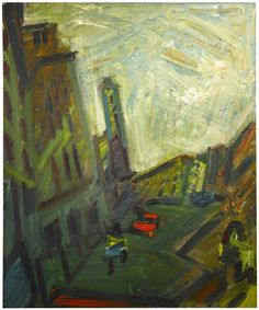 Frank Auerbach (British, b. 1931), Mornington Crescent – First Light, 1989-90. Oil on canvas, 135 x 112 cm.