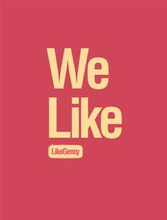 LikeGency - Digital Agency Branding by Martin Bekerman, via Behance