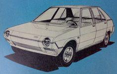 OG   1978 Fiat Ritmo - Project X1/38   Design sketch