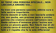 Se trovi una persona speciale