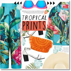 Tropical Prints by chocolate-addicted-angel on Polyvore featuring F.R.S For Restless Sleepers, Eugenia Kim, Le Specs, Kate Spade and Pier 1 Imports
