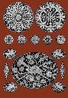 """Iva Rose Vintage Reproductions - Le Point de Venise #1 c.1916 - Beautiful Venetian Point Lace Designs of France (Large Format 11"""" x 17"""" size)"""