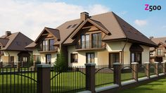 13 Awesome House Exterior Design - Home Decoratings And DIY Village House Design, Duplex House Design, Village Houses, Beautiful Home Designs, Beautiful Homes, Exterior House Colors, Exterior Design, Log Home Plans, Kerala Houses