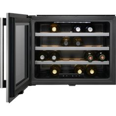 This compact wine cellar offers the ultimate in style and flexibility. Read more about the AEG wine cooler which is available in stainless steel with antifingerprint coating. Integrated Wine Cooler, Built In Wine Cooler, Domestic Appliances, Small Appliances, Kitchen Appliances, Crate Storage, Wine Storage, Caves, Storage Under Staircase