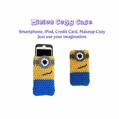 Free Crochet Pattern: Despicable Me Inspired Minion Cozy Case
