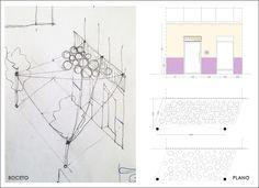 Proyecto 7: intervención efímera y low cost en la fachada de La Cocinita. Evento: Molavide. Lugar: Barrio de Trafalgar, Madrid. Boceto previo y plano de la propuesta. http://reformasdediseno.com/retrospectiva-de-molavide-asi-se-hizo-la-intervencion-en-la-cocinita/#