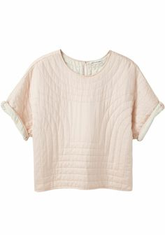 (via isabel marant etoile landers quilted silk top. | styles: clothing.)