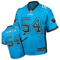 171750b47 Nike Elite Shaq Thompson Blue Men s Jersey - Carolina Panthers  54 NFL  Drift Fashion Shaq