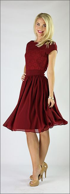 Isabel Dress - Burnt Red Dress - Modest Dresses - Trendy Modest Clothes www.sierrabrooke.com love this!