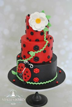 Super cute ladybug cake for  any age group